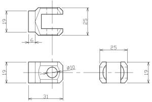 製作用ペグマウント CAD